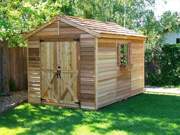 how to build a shed from pallets