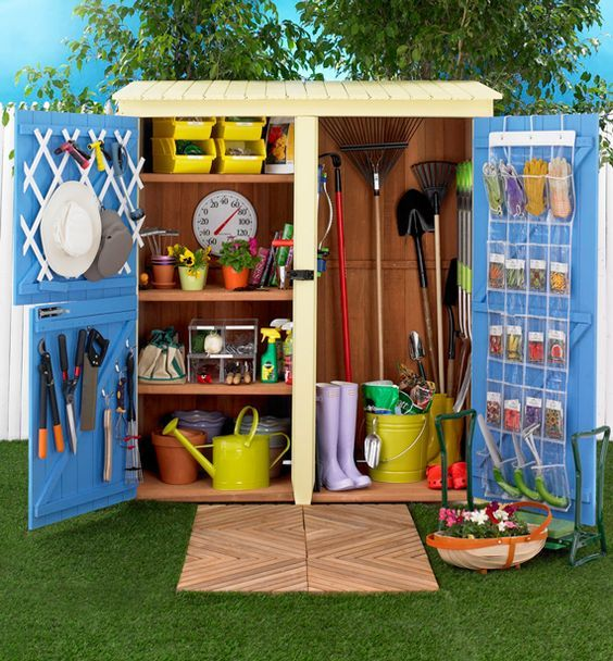 how to declutter a storage shed