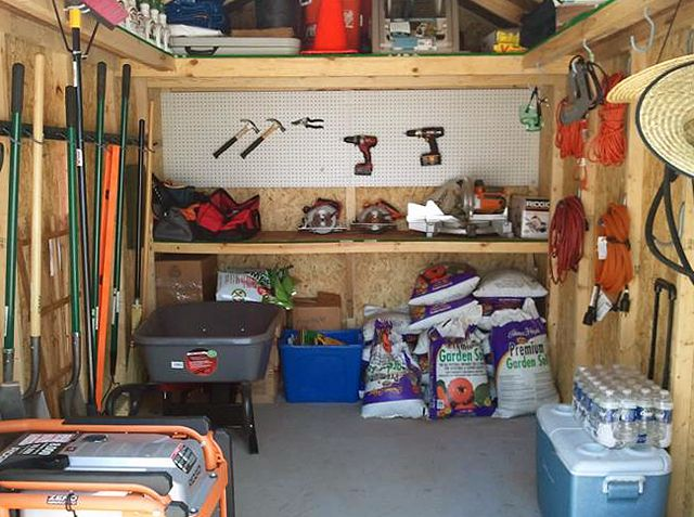 how to organize a shed for storage