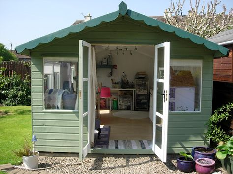 how to turn a shed into a craft room