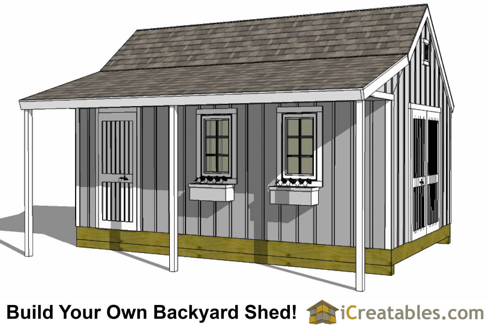 12x16 shed plans with porch