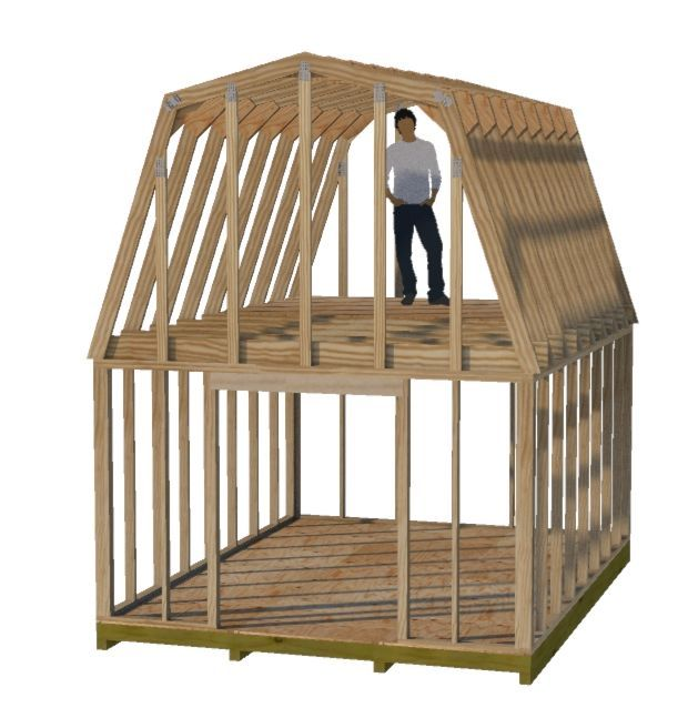 12x16 shed with loft plans