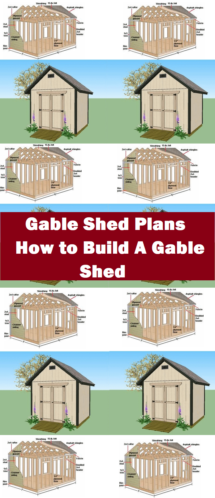 Gable Shed Plans