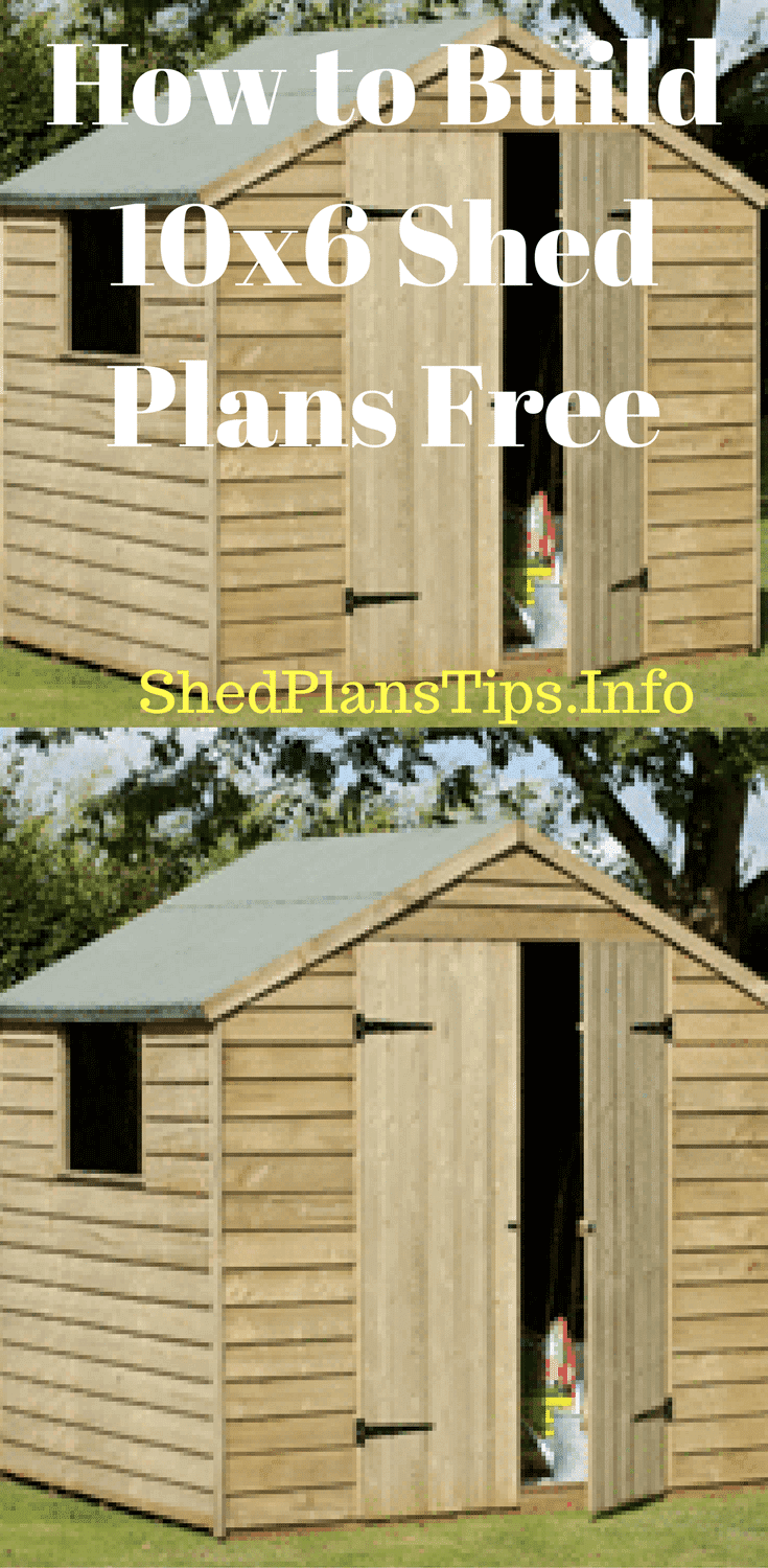 10x6 shed plans