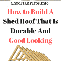 Build A Shed Roof