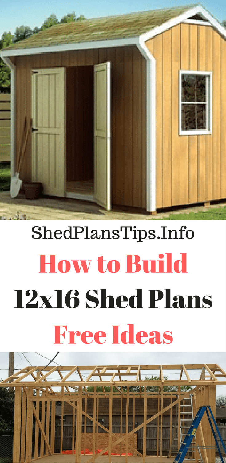12x16 shed plans free