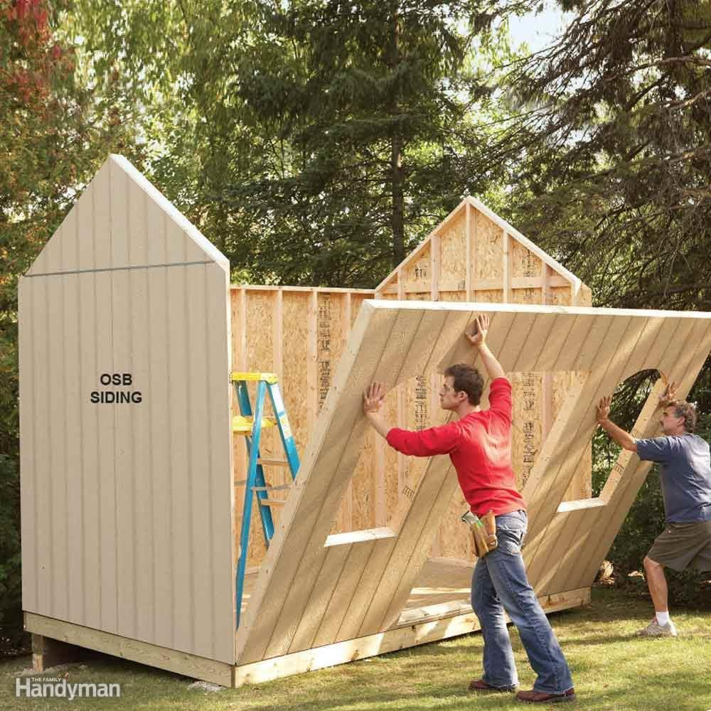 best size shed to build
