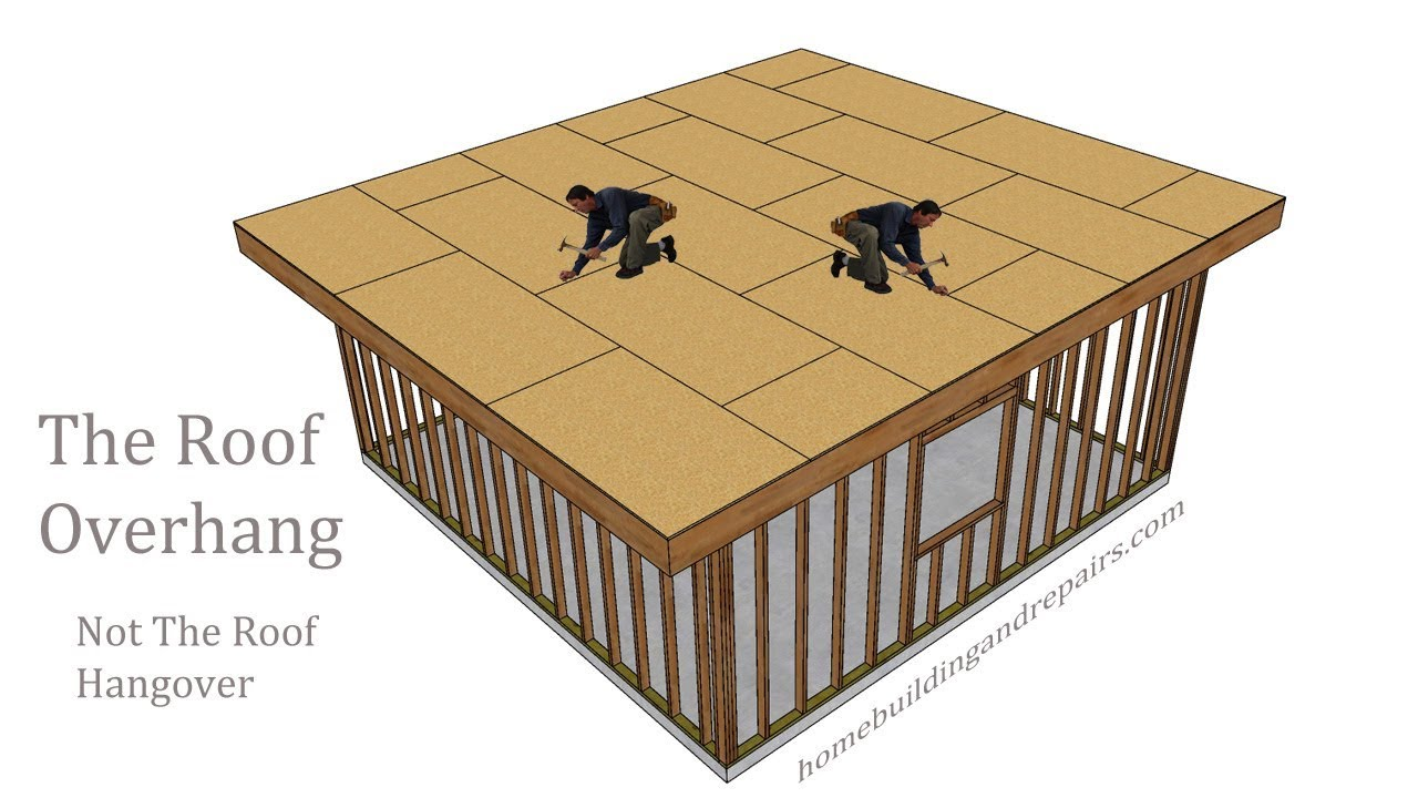 building a shed roof with overhang