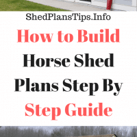 horse shed plans
