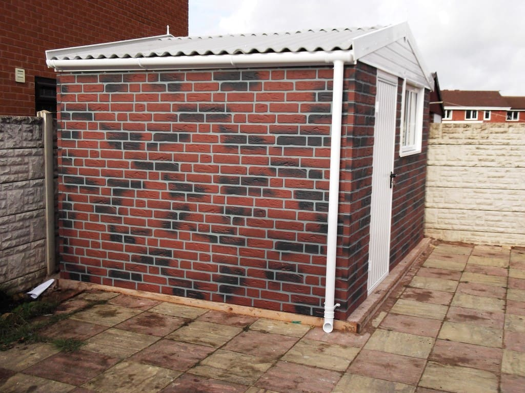 how to build a brick shed
