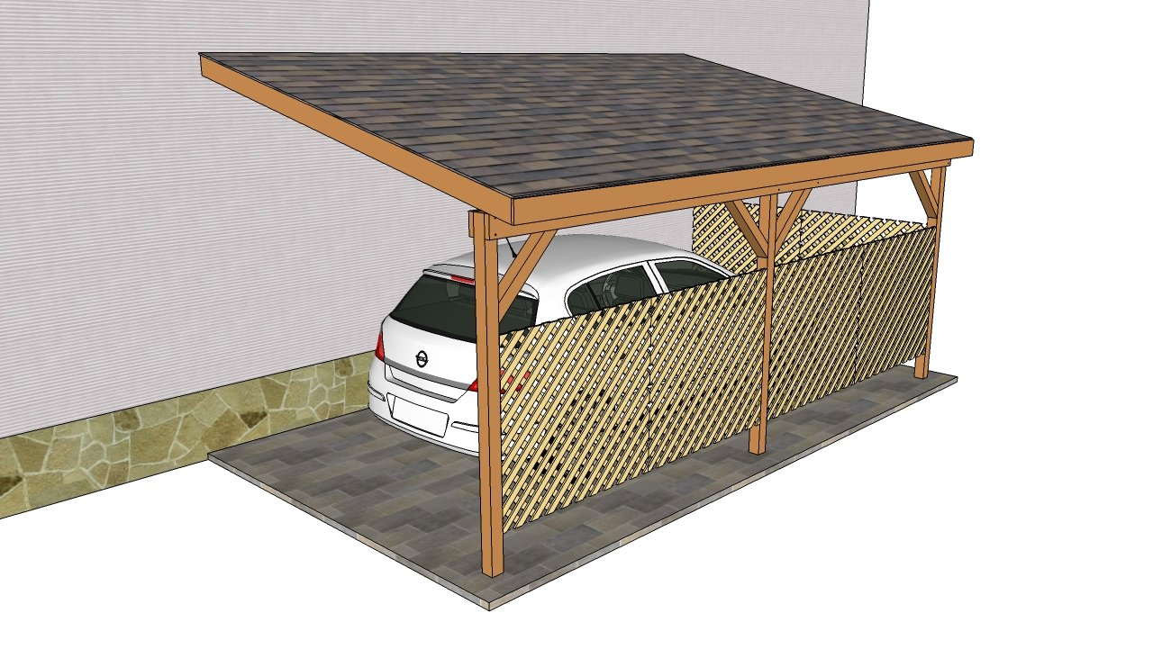how to build a carport attached to house