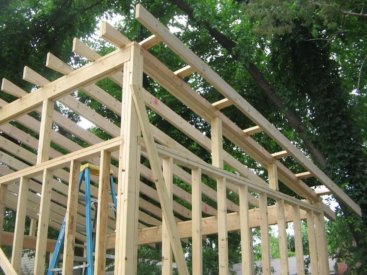 how to build a single slope shed roof