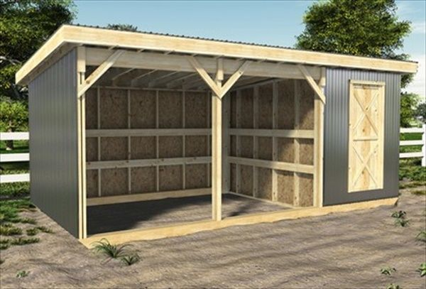how to build horse shed plans