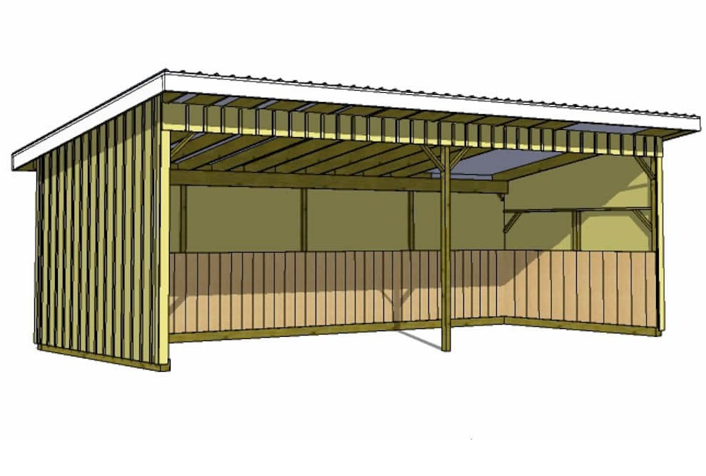 how to build loafing shed