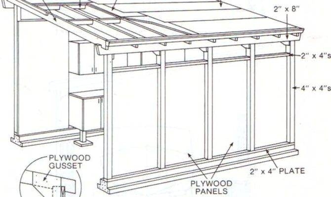 shed roof plan