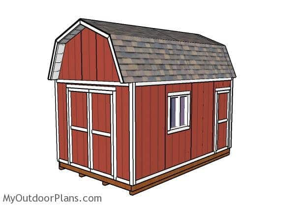 12x16 Gambrel Shed Plans, A Cost Saving Storage Solution