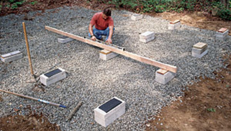 how to build a shed base with concrete blocks