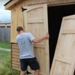 how to build shed doors